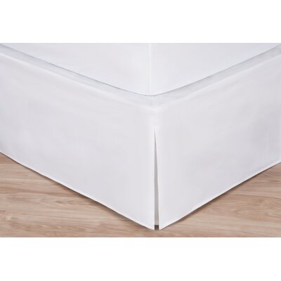 Rolande Wraparound Tailored Bed Skirt Size: King, Color: White