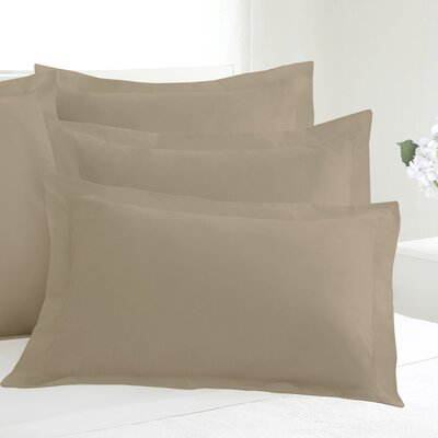 Tailored Sham Size: Standard, Color: Mocha