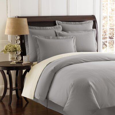 Auclair Tailored Sham Color: Silver