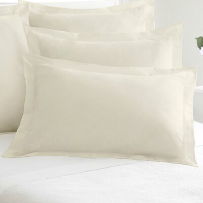 Tailored Sham Size: Standard, Color: Ivory