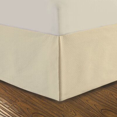 DreamSpace Diamond Matelasse Tailored Bedskirt Size: Twin, Color: Ivory
