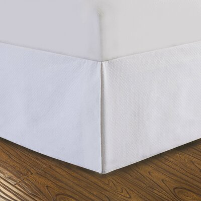 DreamSpace Diamond Matelasse Tailored Bedskirt Size: King, Color: White