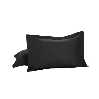 Todays Home Basic Cotton Rich Tailored Sham Color: Black