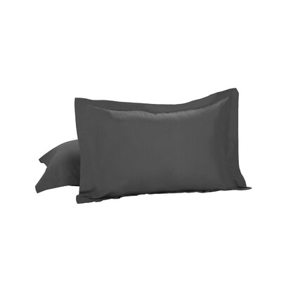 Basic Microfiber Tailored Sham Color: Gray