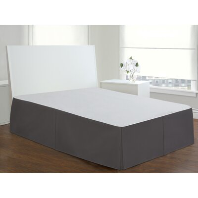 Todays Home Basic Cotton Rich Tailored 200 Thread Count Bedskirt Size: Twin, Color: Gray