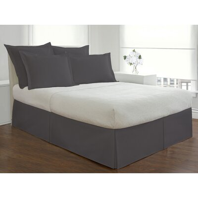Basic Microfiber Tailored Bedskirt Size: King, Color: Gray