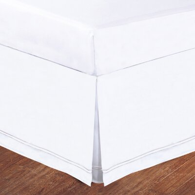 Luxury Hotel Baratta Stitch Tailored Microfiber Bedskirt Size: Queen, Color: White / White