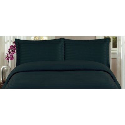 DreamSpace 3 Piece Duvet Cover Set Size: King, Color: Black