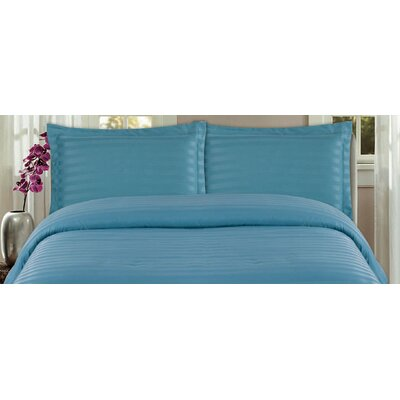 DreamSpace 3 Piece Duvet Cover Set Size: Twin, Color: Dusty Blue