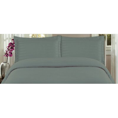DreamSpace 3 Piece Duvet Cover Set Size: King, Color: Gray