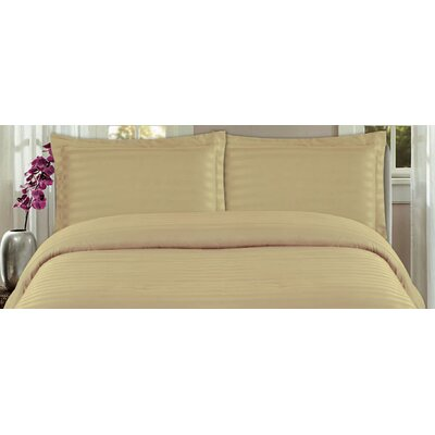 DreamSpace 3 Piece Duvet Cover Set Size: Full/Queen, Color: Mocha