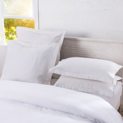 DreamSpace Diamond Matelasse Tailored Sham Size: Euro, Color: White