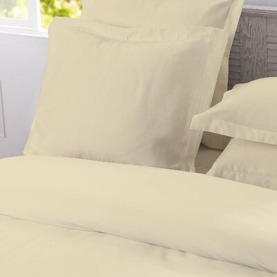 DreamSpace Diamond Matelasse Tailored Sham Size: Euro, Color: Ivory