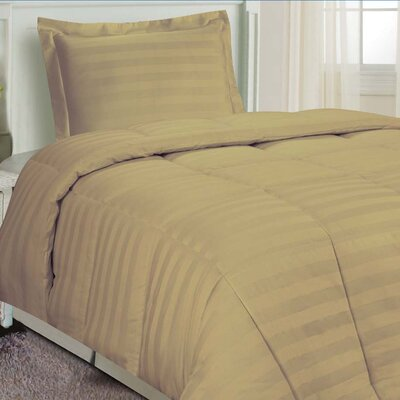 DreamSpace 3 Piece Comforter Set Size: Twin, Color: Mocha