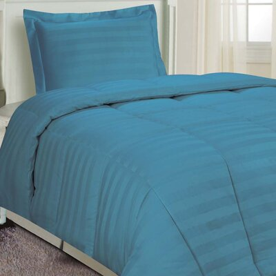 DreamSpace 3 Piece Comforter Set Size: Twin, Color: Dusty Blue