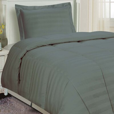 DreamSpace 3 Piece Comforter Set Size: King, Color: Gray