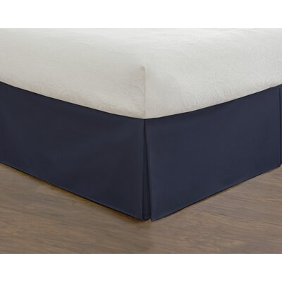 Hotel 15 620 Thread Count Bed Skirt Size: California King, Color: Dark Blue