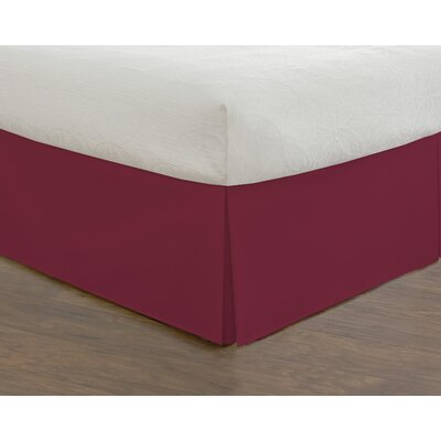 Hotel 15 620 Thread Count Bed Skirt Size: Full, Color: Red