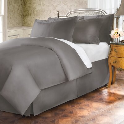 Hotel 15 Tailored 400 Thread Count Bed Skirt Size: Twin, Color: Stone
