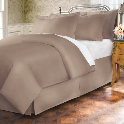 Hotel 15 Tailored 400 Thread Count Bed Skirt Size: Twin, Color: Canvas