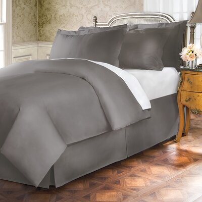 Hotel 18 Tailored 400 Thread Count Bed Skirt Size: Full, Color: Stone