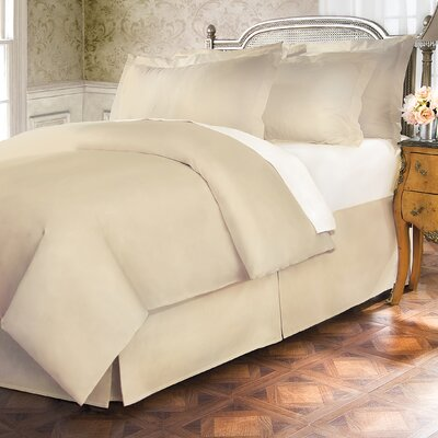 Hotel 15 Tailored 400 Thread Count Bed Skirt Size: Full, Color: Ivory