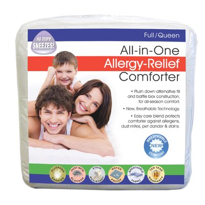Breathable Allergy Relief All-In-One All Season Down Alternative Comforter Size: Twin