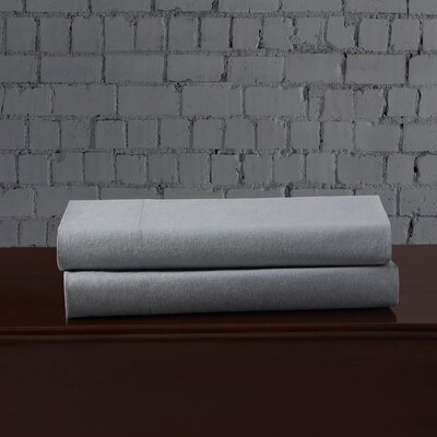 Linen Blend Pillowcase Size: King, Color: Light Blue