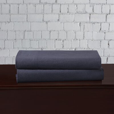 Linen Blend Pillowcase Size: King, Color: Indigo
