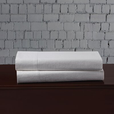 Linen Blend Pillowcase Size: King, Color: White