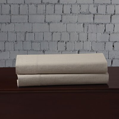 Linen Blend Pillowcase Size: King, Color: Khaki