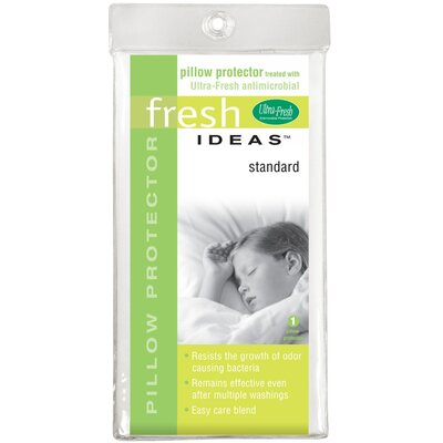 Fresh Ideas Anti-Microbial Pillow Protector Size: Queen