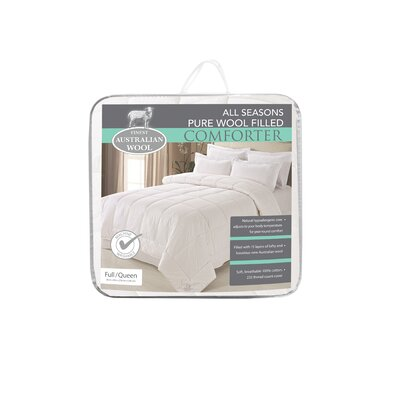 Australian All Season Wool/Cotton Comforter Size: Full/Queen
