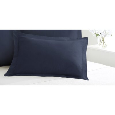 Tailored Sham Size: Standard, Color: Navy