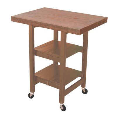 Folding Kitchen Cart Finish: Sand