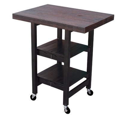 Folding Kitchen Cart Finish: Boatwood