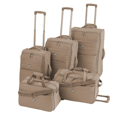 Heys USA Eco-Friendly Renovo 5 Piece Spinner Luggage Set - Color: Brown at Sears.com