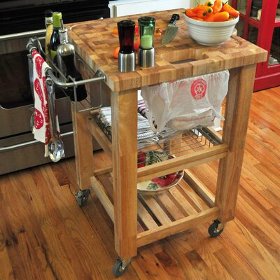 Pro Chef Kitchen Cart Base Finish: Natural Lacquer