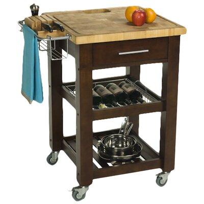 Chris U0026 Chris Pro Chef Kitchen Cart Base Finish: Espresso   Kitchen Island    Portable