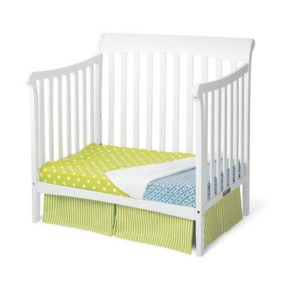 Child Craft Ashton Mini 4-in-1 Convertible Crib - Finish: Matte White