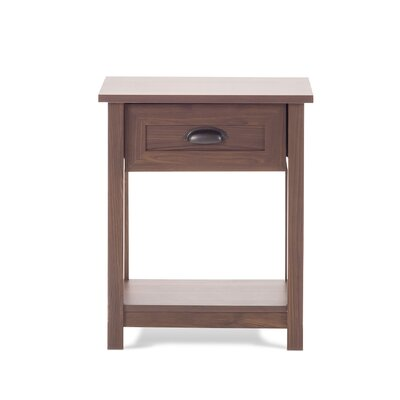 Abbott 1 Drawer Nightstand Color: Rich Walnut