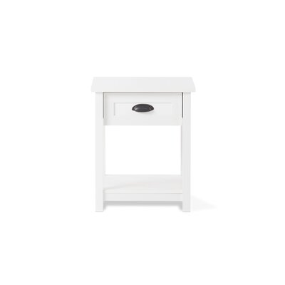 Abbott 1 Drawer Nightstand Color: Matte White
