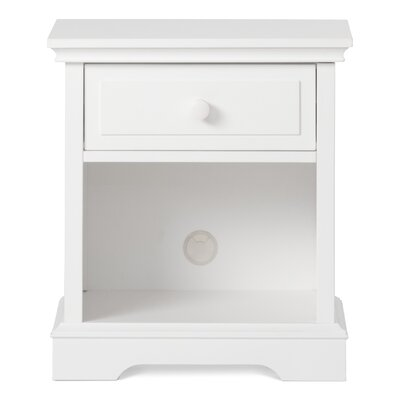 Camden 1 Drawer Nightstand Color: Matte White F09428.46