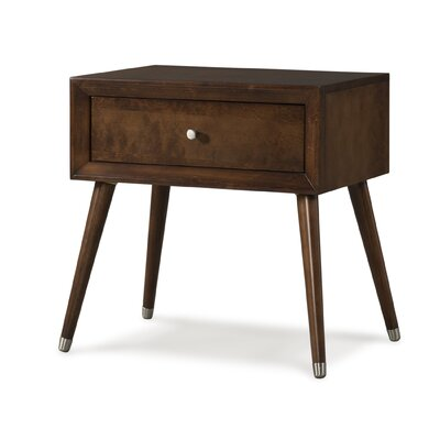 Notting Hill 1 Drawer Nightstand Color: Chocolate