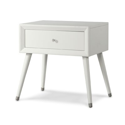 Notting Hill 1 Drawer Nightstand Color: Matte White