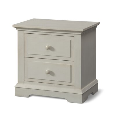 Devon 2 Drawer Nightstand Color: Vintage Linen
