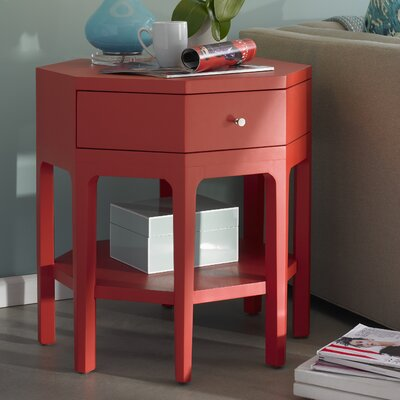 Improv End Table Finish: Red