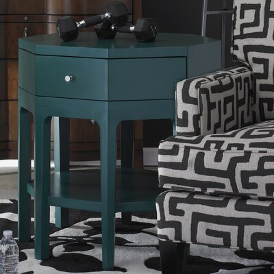 Improv End Table Finish: Teal