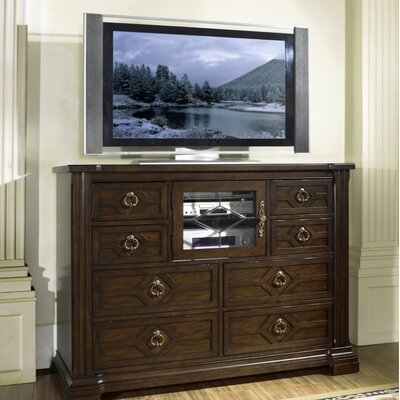 Cheap Somerton Villa Madrid Media Chest in Dark Walnut (SOM1395)