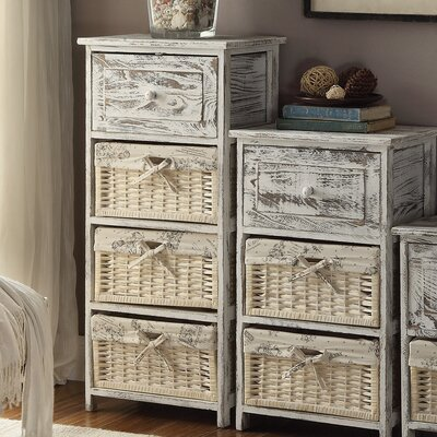 Cottage Home 1 Drawer 3 Basket Chest